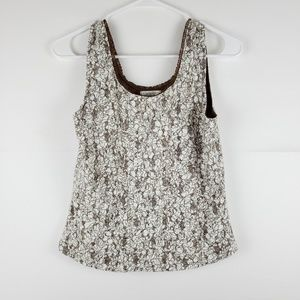 Christopher & Banks Lace Tank Size Small